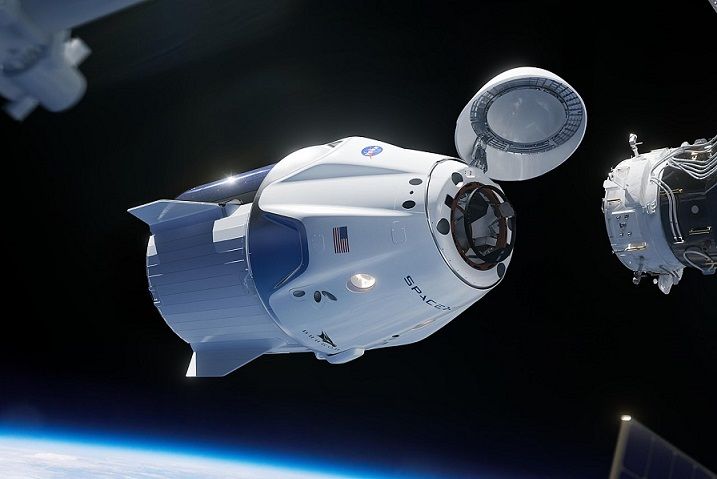 SpaceX Crew Dragon capsule docks with International Space Station